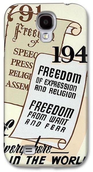 Freedom Everywhere In The World Galaxy S4 Case by Daniel Hagerman