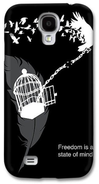 Crow Galaxy S4 Case - Freedom Is A State Of Mind by Sassan Filsoof