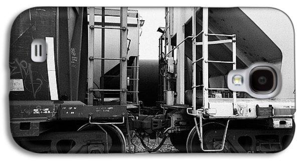 freight grain trucks coupling on canadian pacific railway Saskatchewan Canada Galaxy S4 Case