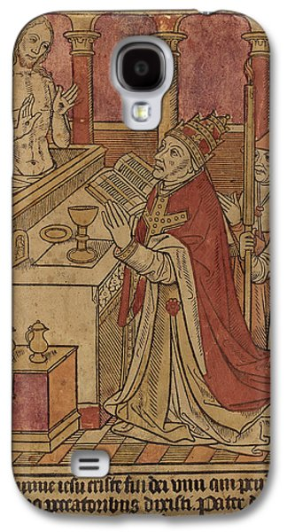 French 15th Century, The Mass Of Saint Gregory Recto Galaxy S4 Case by Quint Lox