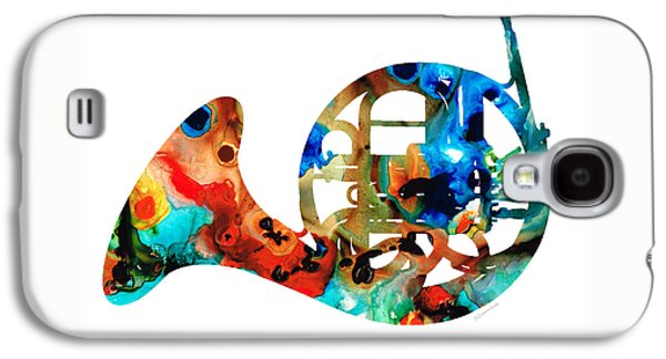 French Horn - Colorful Music By Sharon Cummings Galaxy S4 Case by Sharon Cummings