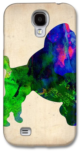French Poodle Watercolor Galaxy S4 Case by Naxart Studio