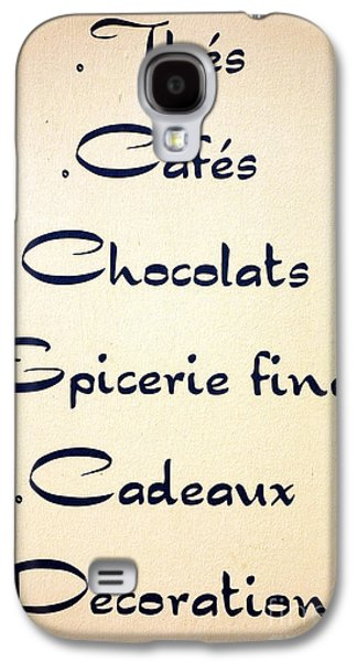 French Store Sign Galaxy S4 Case by Olivier Le Queinec