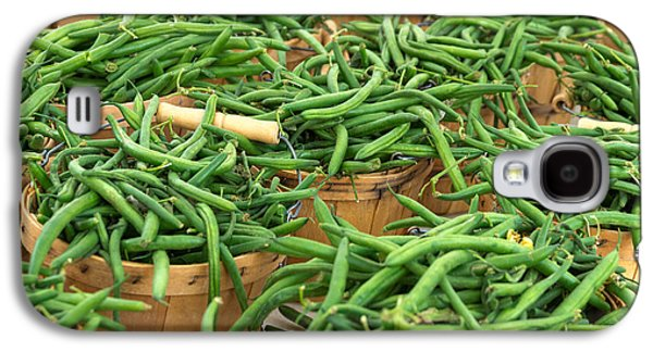 Fresh Green Beans In Baskets Galaxy S4 Case by Teri Virbickis