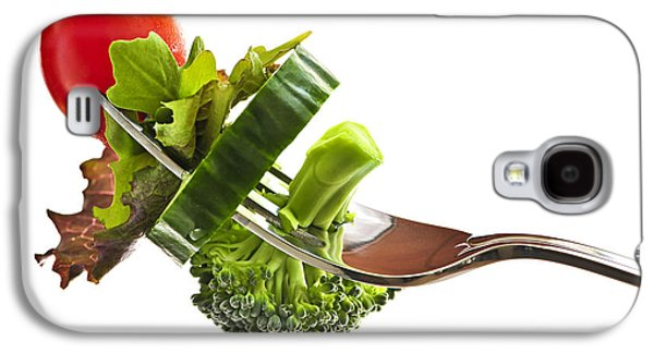 Broccoli Galaxy S4 Case - Fresh Vegetables On A Fork by Elena Elisseeva