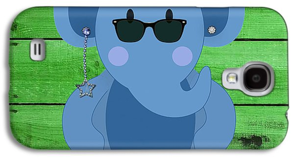 Friendly Elephant Art Galaxy S4 Case by Marvin Blaine
