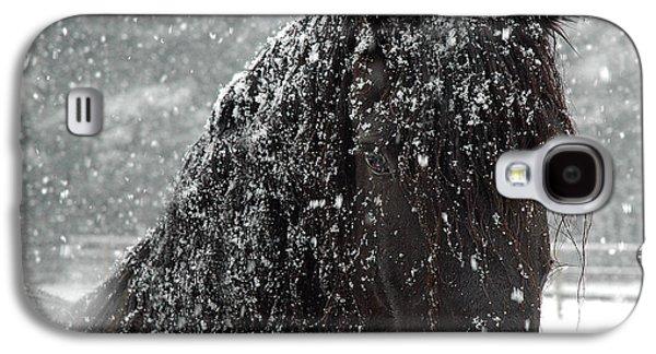 Friesian Snow Galaxy S4 Case by Fran J Scott