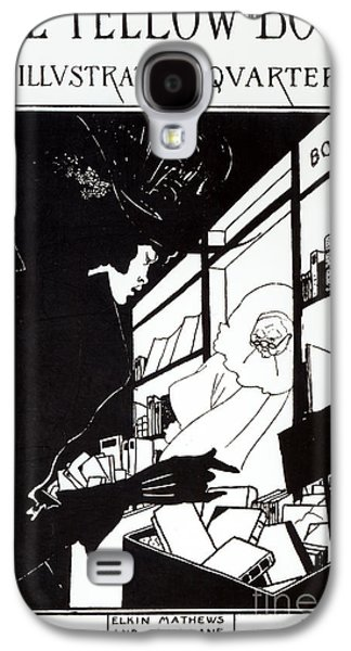 Front Cover Of The Prospectus For The Yellow Book Galaxy S4 Case by Aubrey Beardsley