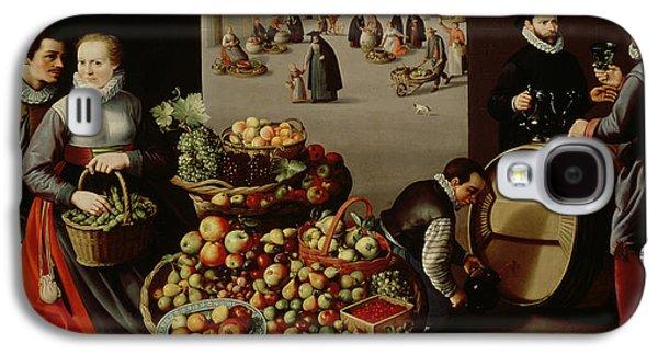 Fruit Market Galaxy S4 Case by Lucas van Valckenborch
