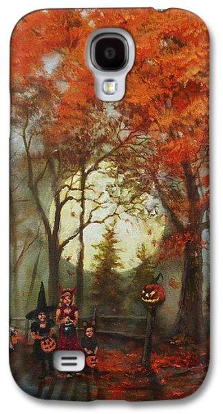 Full Moon On Halloween Lane Galaxy S4 Case by Tom Shropshire