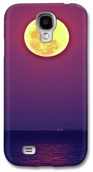 Full Moon Rising Over The Sea Galaxy S4 Case