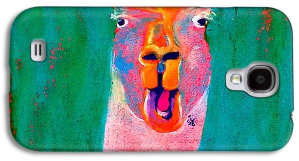 Funky Llama Art Print Galaxy S4 Case