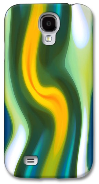 Abstract Tide 4 Galaxy S4 Case by Amy Vangsgard