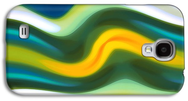 Abstract Tide 5 Galaxy S4 Case by Amy Vangsgard