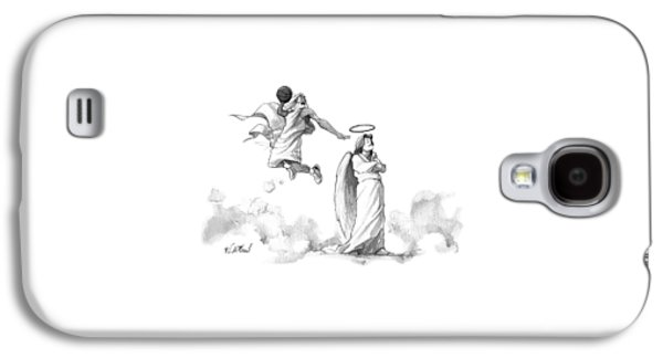 G-d Slam Dunks On An Angel's Halo Galaxy S4 Case by Will McPhail
