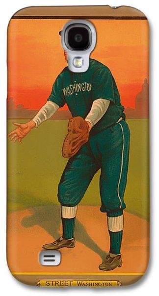 Gabby Street Baseball Card 1911 Galaxy S4 Case by Mountain Dreams