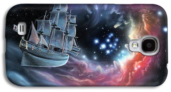 Galleon Amongst The Stars Galaxy S4 Case by Richard Bizley