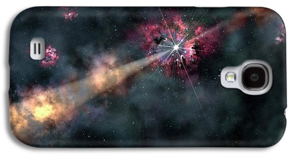 Gamma-ray Burst Galaxy S4 Case by Gemini Observatory/aura, Artwork By Lynette Cook