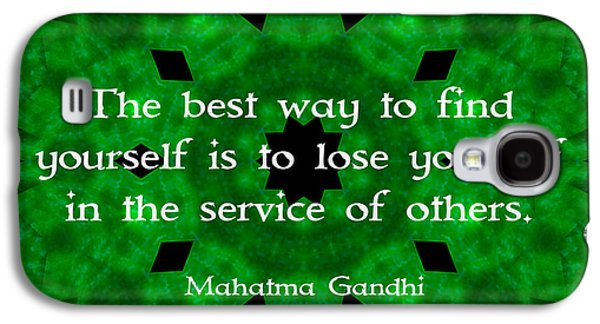 Gandhi Inspirational Quote About Self-help  Galaxy S4 Case