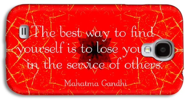 Gandhi Inspirational Saying About Self-help Galaxy S4 Case by Quintus Wolf