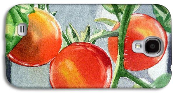 Garden Cherry Tomatoes  Galaxy S4 Case by Irina Sztukowski