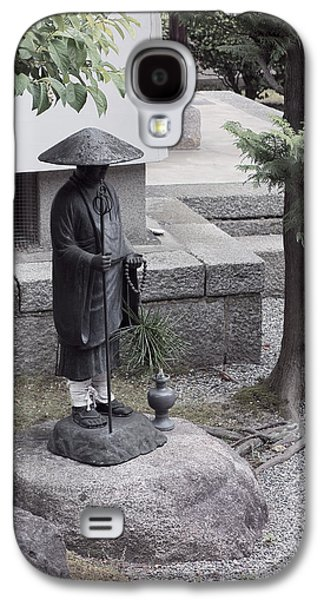 Zen Temple Garden Monk - Kyoto Japan Galaxy S4 Case by Daniel Hagerman