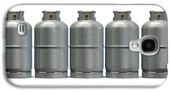 Gas Cylinder Row Galaxy S4 Case by Allan Swart