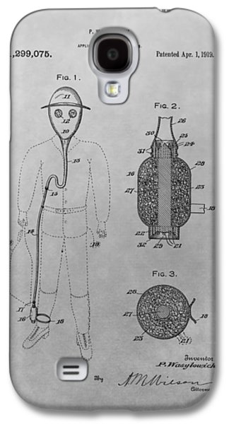 Gas Mask Patent Drawing Galaxy S4 Case