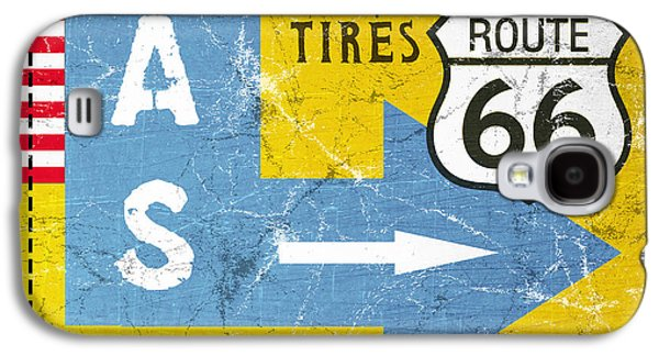 Gas Next Exit- Route 66 Galaxy S4 Case by Linda Woods