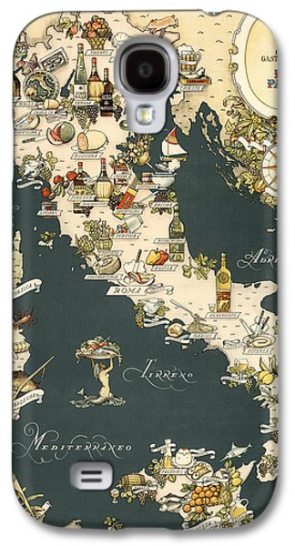Gastronomic Map Of Italy 1949 Galaxy S4 Case by Andrew Fare