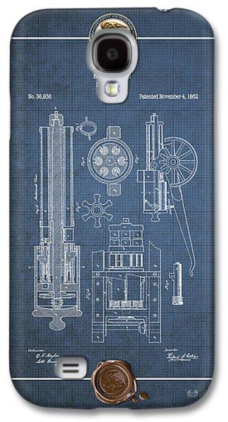 Gatling Machine Gun - Vintage Patent Blueprint Galaxy S4 Case by Serge Averbukh