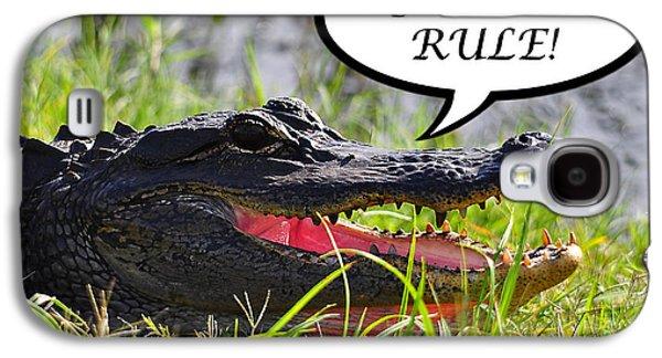 Gators Rule Greeting Card Galaxy S4 Case