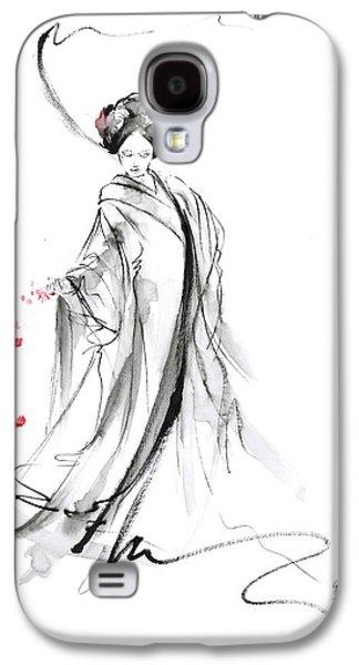 Geisha With Cherry Blossom Flower Galaxy S4 Case by Mariusz Szmerdt