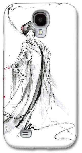 Geisha With Cherry Blossom Flower Galaxy S4 Case
