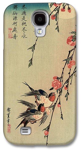 Gekka Momo Ni Tsubakura, Moon Hiroshige, 1797-1858 Galaxy S4 Case