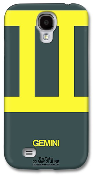 Gemini Zodiac Sign Yellow Galaxy S4 Case by Naxart Studio
