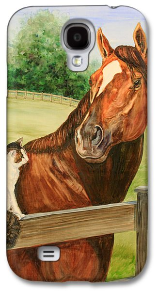 General Charlie And Whirlaway The Cat Portrait Galaxy S4 Case by Kristine Plum