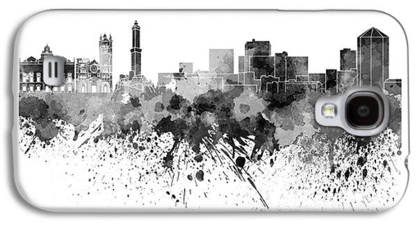 Genoa Skyline In Black Watercolor On White Background Galaxy S4 Case