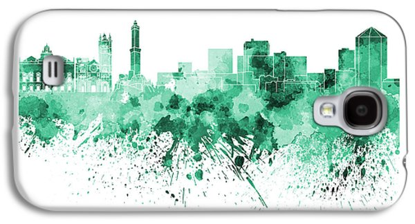 Genoa Skyline In Green Watercolor On White Background Galaxy S4 Case