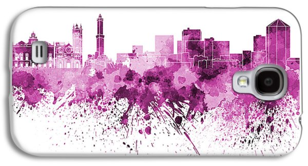 Genoa Skyline In Pink Watercolor On White Background Galaxy S4 Case