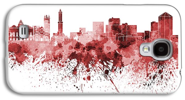 Genoa Skyline In Red Watercolor On White Background Galaxy S4 Case