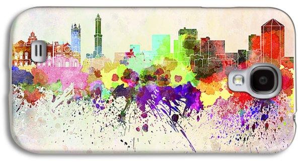 Genoa Skyline In Watercolor Background Galaxy S4 Case
