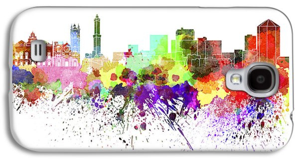 Genoa Skyline In Watercolor On White Background Galaxy S4 Case