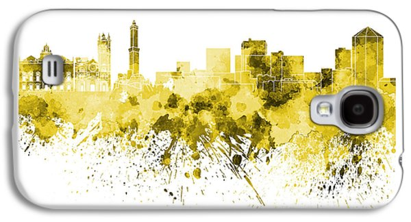 Genoa Skyline In Yellow Watercolor On White Background Galaxy S4 Case