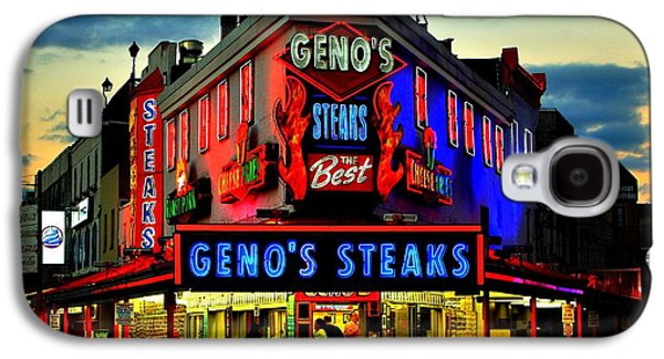 Geno's Steaks Galaxy S4 Case by Benjamin Yeager