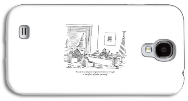 Gentlemen, It's Time We Gave Some Serious Thought Galaxy S4 Case by Mick Stevens