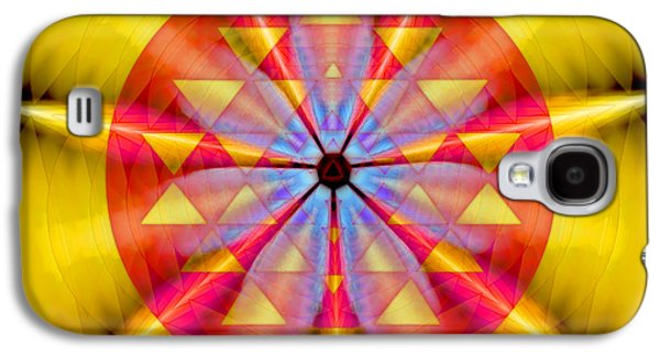 Geo-cosmic Sri Yantra Galaxy S4 Case by Derek Gedney