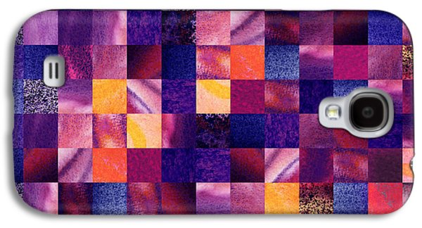 Geometric Abstract Design Purple Meadow Galaxy S4 Case by Irina Sztukowski
