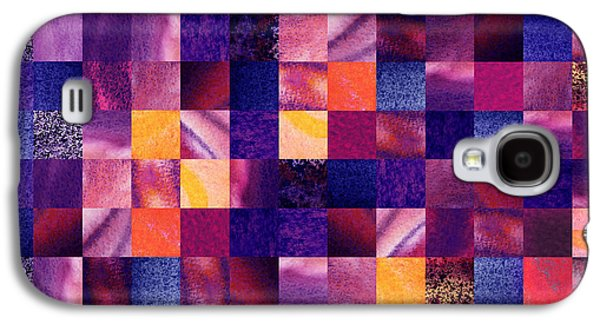 Geometric Abstract Design Purple Meadow Galaxy S4 Case