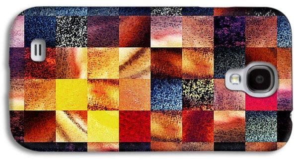 Geometric Abstract Design Sunrise Squares Galaxy S4 Case by Irina Sztukowski